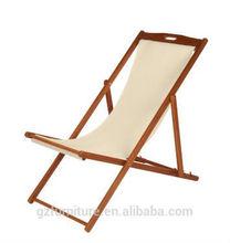 Plegable silla de playa de madera