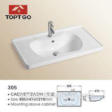 bacino di pozzo profondo lavello rustico ristorante bagno lavandini 305