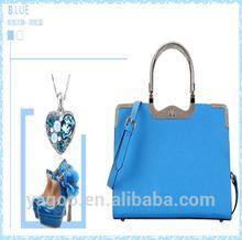 fresh colourful PU tote handbag for women