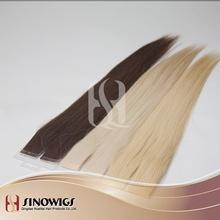 Slavic human hair cuticle European human hair tape hair extension