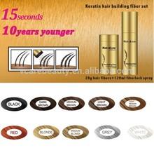 Keralux Hairloss Treatment Fibers set spray hair building fibers natural keratin hair fibers
