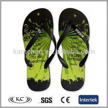Best selling bath green design word eva bathroon beach sandals shoes flip flop for man