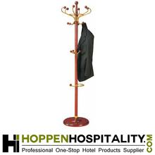 hotel wooden coat rack