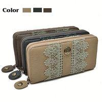 lace zip smart korean design crown wallet
