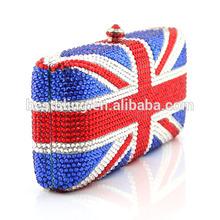 Crystal clutch bag purse and handbags