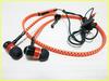 New sport noctilucent glowing stereo zipper earphone