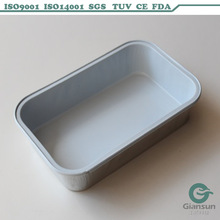 coated disposable aluminum foil container with lid