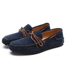 2014 flat suede leather shoes for men
