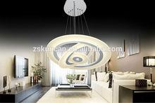 Modern high-end circle pendant led light