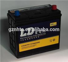 (46B24L/45ah)maintenance free lead-acid dry charged storage car starting batteries