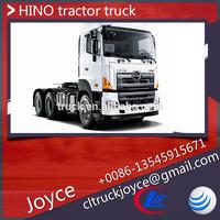 6x4 Hino tractor truck,three-wheel transportation tractor,truck head 450hp