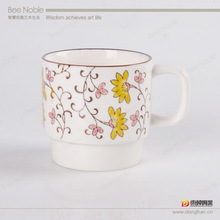 hot new products for 2014-ceramic mug with handprinting and high quality.