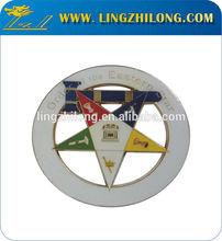 Cut Out Masonic Metal Car Badge