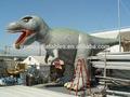 Tutta la stampa digitale Godzilla gonfiabile, dinosauro gonfiabile