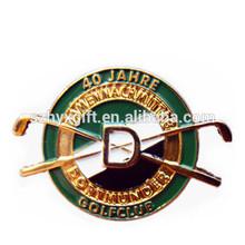 Golf Club noble pin metal badge/emblem,golf metal pin badge for promotion