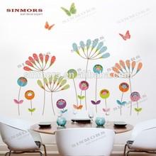 Adhésif fleur beau papier peint, Décoration mur coller du papier, Papillon stickers muraux
