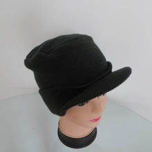 cheap knit hat visor pattern golf cap peak for winter