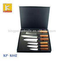 2015 hot sale 6 pcs black handle Japanese knife set