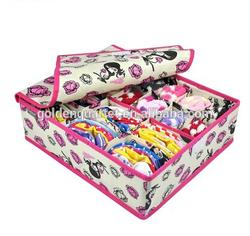 PP non-woven underwear organizer bag /underwear storage box (SA8000, BSCI, WCA audit factory)