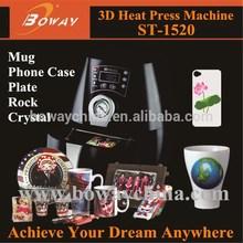 3D Sublimation Vacuum mini personal handphone case combo Heat Press printer