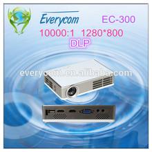 China Manufacturer 1080P 3D Projector Mini DLP 3000Lumens 1280*800 Portable Size