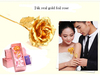 24k real gold foil wrapping rose special flower wedding gift