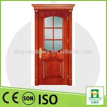 exterior mahogany solid wooden door popular in Korea made in yongkang zhejiang