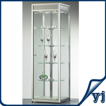 Tempered Glass Plywood Jewelry Case Display Cabinet,Vitrine Showcase Museum Display Case