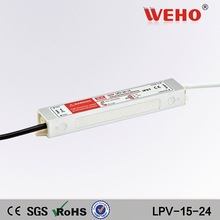 Low noise 15W 24vdc waterproof led power supply 24V led driver 15w