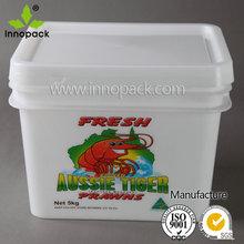 10L plastic square pail food grade
