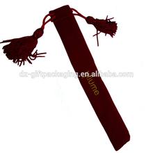 2014 Popular Exquisite Long Velvet Pen Bag With Logo And Tassels