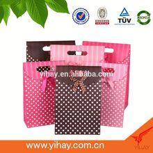China manufacturer Top customized luxury fancy display cardboard printing wedding bag