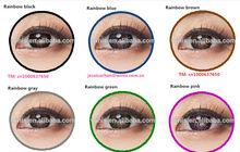 New arrival Korea Eclipse rainbow pink wholesale cosmetic soft color contact lens 7 colors