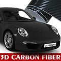 Autocollant de voiture catpiano 1.52x30m 5x98ft amovible. texture pvc black 3d en fibre de carbone de vinyle autocollant