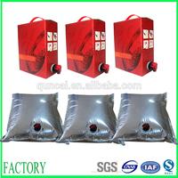 Liquid food plastic bag for wine,fruit juice,milk ect.