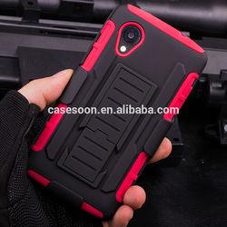 Belt Clip Holster Rugged Hybrid Hard Stand Case For Google LG Nexus 5 D820 D821,For Nexus 5 Case