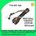 2015 venta caliente 1000 mejor ataque del flujo luminoso de la cabeza de la batería 18650 xml t6 led linterna táctica