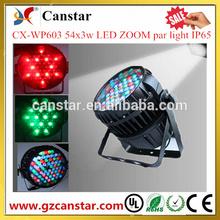 Hot sale 54x3w LED ZOOM par light IP65 Factory supply