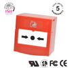 Fire alarm emergency resettable Single pole red square Manual Call Point