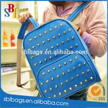 Wholesale pattern backpack china manufacturer & blue shinning rivet backpack alibaba china & fashion cool skateboard backpack