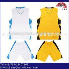 Sublimation Printing Sportswear custom basketball tops