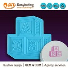 Wholesale custom cake decorating mold cake ABC 3d stencil fondant silicone onlays