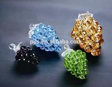 Diamante de cristal uvas para chateau de presentes de vidro decorativo uvas