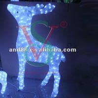 2015 High quality white Reindeer sculpture Christmas LED 3D motif light
