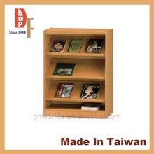 2015 Taiwan PVC wooden clothes storage kitchen display magazine rack