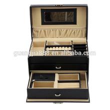 Mordern wood leather jewelry box cosmetic case gift storage box