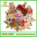 Werbegeschenke glückliches Geburtstag dekorative mädchen party-deko 3d boden Bild aufkleber