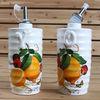 Best selling New Lemon design Ceramic Oil and Vinegar set,Dolomite Condiment set for Kitchen