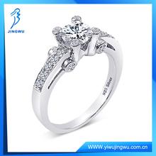 Yiwu Rings 925 Silver Diamond Ring Fashion Engagement Ring