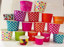 Disposable good printing Ice cream paper cups for wholesale from Wuhan China
